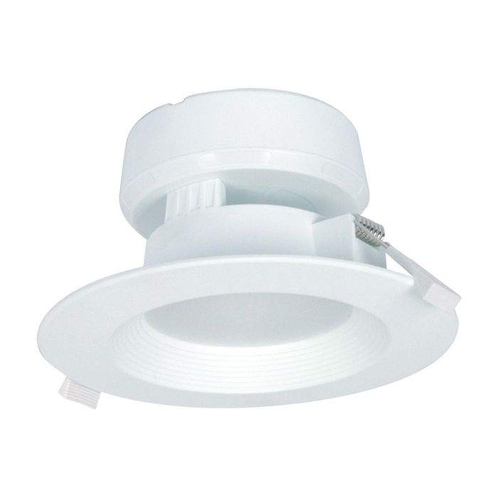 Satco Lighting S9012 7 Watt LED Direct Wire Downlight Fixture 120V Dimmable Frosted Finish 3000K