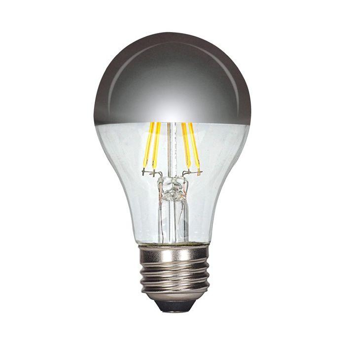 Satco Lighting S9826 6.5 Watt A19 Screw-In LED Filament Light Bulb Lamp E26 Medium Base 120V Dimmable 2700K