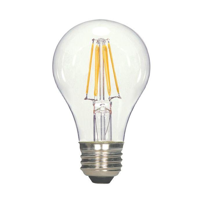 Satco Lighting S9894 6.5 Watt A19 Omni-directional Screw-In LED Filament Light Bulb Lamp E26 Base 120V Dimmable 3000KSatco Lighting S9894 6.5 Watt A19 Omni-directional Screw-In LED Filament Light Bulb Lamp E26 Base 120V Dimmable 3000K