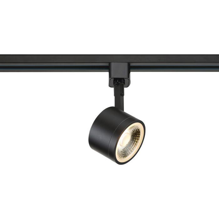 Satco Lighting TH402 12 Watt LED Track Head Light Fixture Black Finish 24 Degree Beam Angle Dimmable 3000k