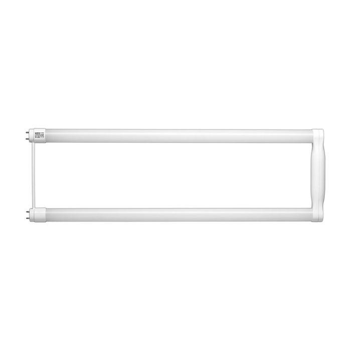 SATCO S9933 15T8U6/LED/22.5-850/BP 15 Watt T8 U-Bend LED Linear Tube Lamp Glass Tube, Medium Bi-Pin Base, 120-277V Direct Wire, 5000K