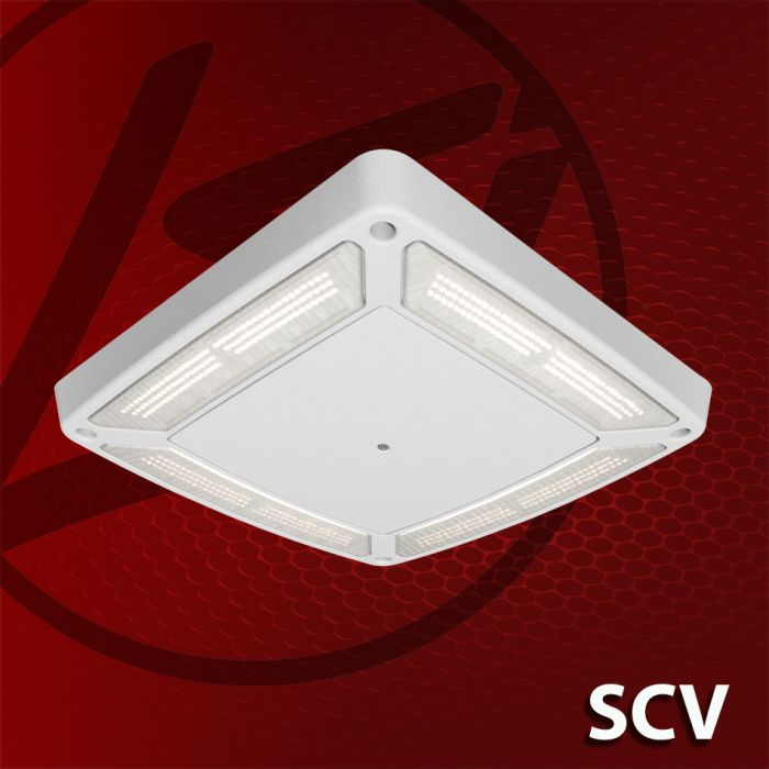 LSI Industries DLC Qualified SCV LED Petroleum Canopy Light Fixture Dimming 120-277V 5000K
