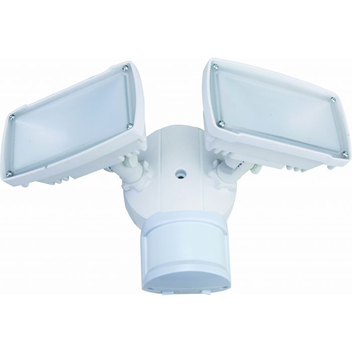 NaturaLED LED-FXSFD20 20 Watt Double Head Square LED Security Flood Light Fixture with Motion Sensor
