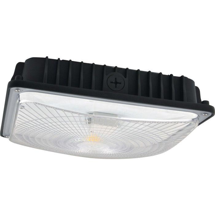 NaturaLED LED-FXSCM42 DLC 4.0 Premium Listed 42 Watt LED Slim Canopy Fixture Replaces 175W HID