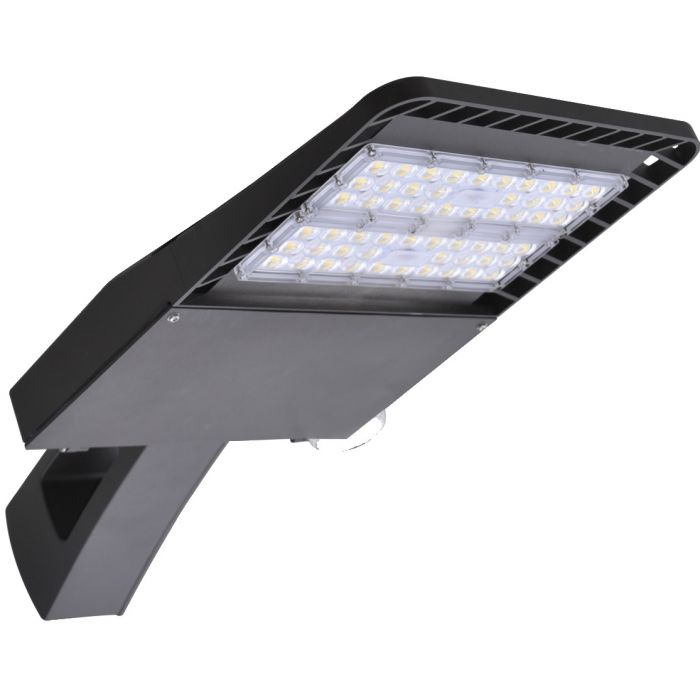 LSI Industries SSA-LED Series DLC Premium Listed Small LED Commercial Area Light Fixture Dimmable with Square Pole Mount Arm