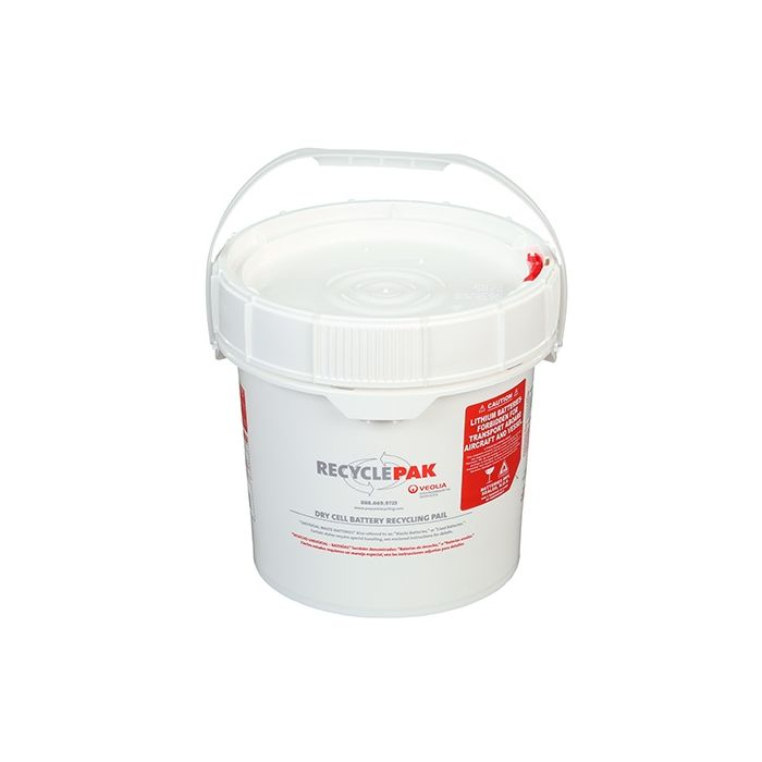 Veolia SUPPLY-041 RecyclePak 3.5 Gal. Dry Cell Battery Recycling Pail Container Kit Prepaid Return Shipping Image