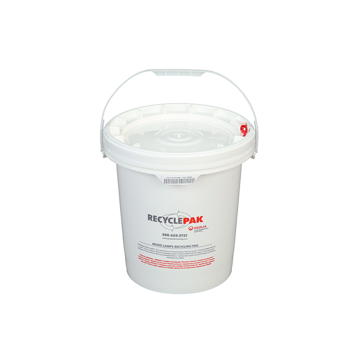 Veolia SUPPLY-068 RecyclePak 5 Gal. Mixed Lamp Recycling Pail Container Kit Prepaid Return Shipping Product