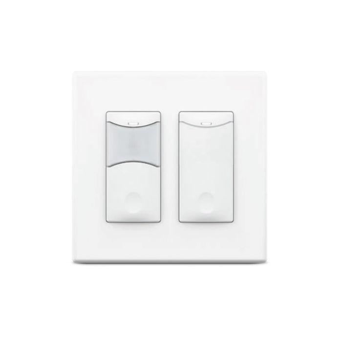 Sensorworx SWX-132 Wall Switch Sensor - 2-Pole Kit with Dual Tech/Photocell Sensor & Sidecar Switch