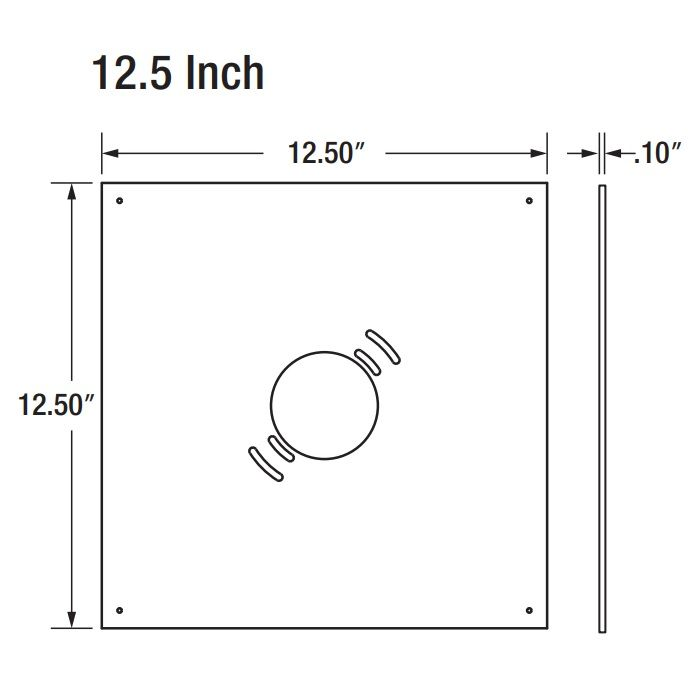 Sylvania CANOPYA/MTGPLATE 12.5-Inch Mounting Plate Replacement White Finish for LED Canopy Light Fixture