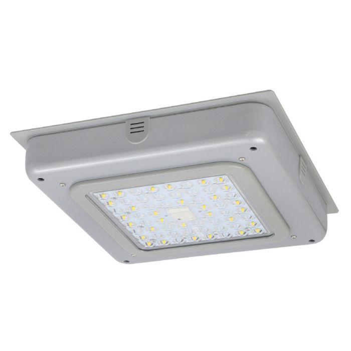 Sylvania GARAG1A/055UNVD7 DLC Premium Listed 55 Watt LED Garage Light Fixture Type V Light Distribution Dimmable 120-277V