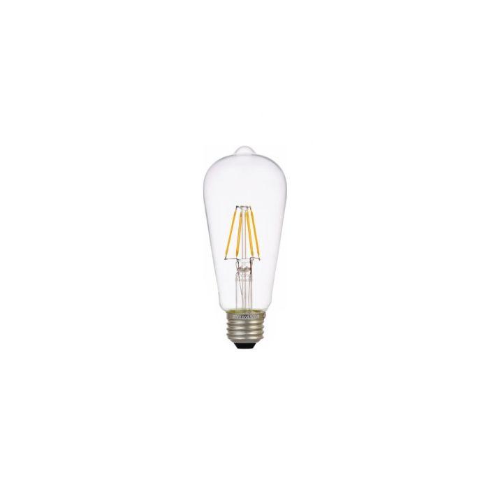 Sylvania 74589 LED6.5ST19DIM827FILG2RP 6.5 Watt ULTRA LED ST19 Filament Clear Glass Lamp Medium Base 2700K Dimmable 60W Equivalent