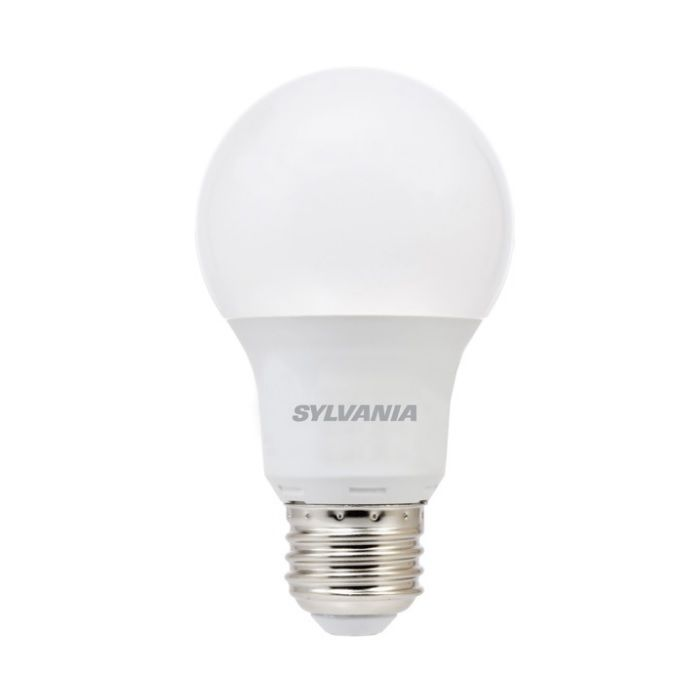 Sylvania 74081 LED6A19F85010YVRP2 Contractor Series 6 Watt LED A19 Frosted Lamp E26 Base 5000K Replaces 40W Incandescent
