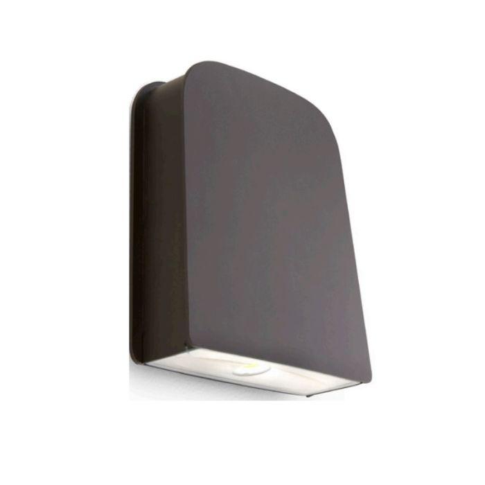 Sylvania SLMWPK1A/060UNV DLC Qualified 60 Watt LED Slim Wall Pack Light Fixture 120-277V Cutoff Light Distribution 175W MH Equivalent