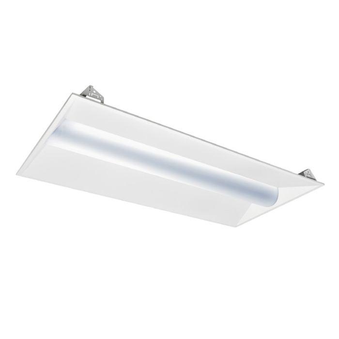 Sylvania VOLUME1A/042UNVD DLC Listed 42 Watt 2x4 LED 1A Volumetric Troffer Light Fixture Dimmable 120-277V