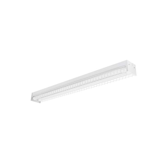 Toggled FS420W0 4FT LED 2 Tube Capacity Surface Mount Fixture with Wire Guard