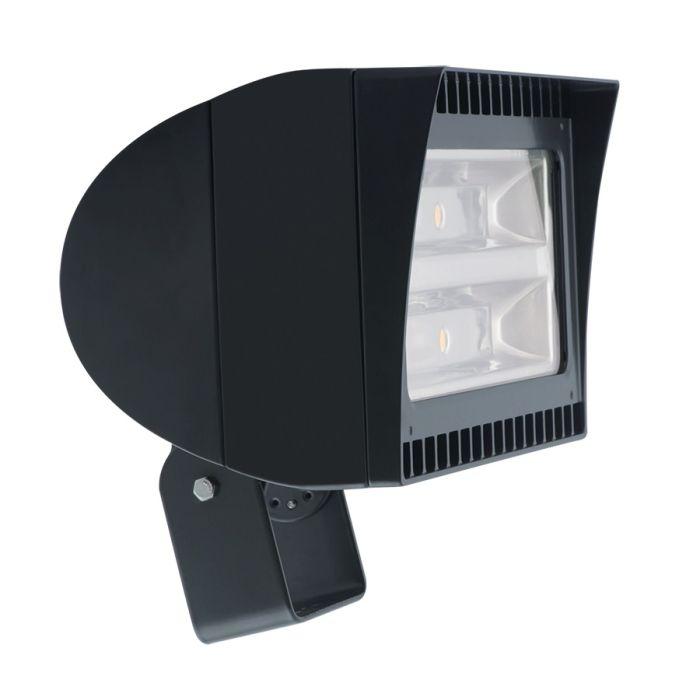 Main Image Black Finish RAB Lighting FXLED105T 105 Watt High Output LED Floodlight Fixture Trunnion Mount 5000K