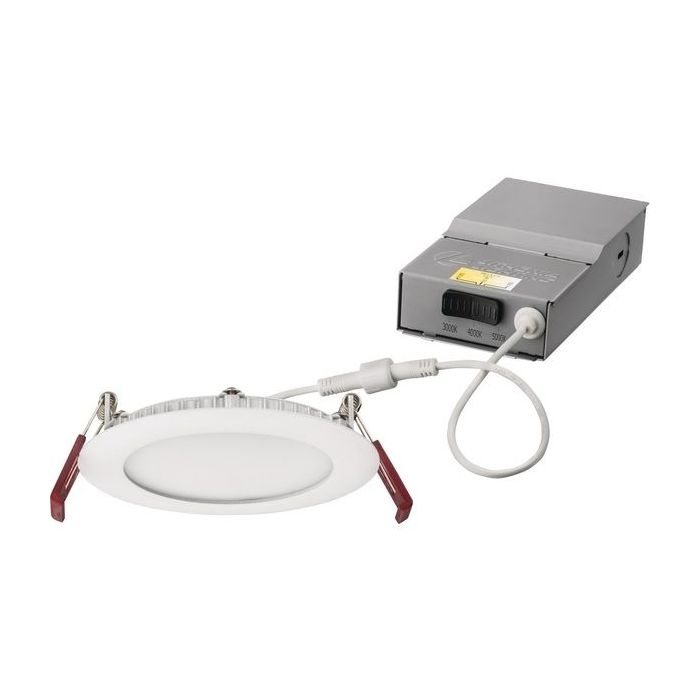 Lithonia Lighting WF6 Series LED 6 Inch Wafer Recessed Downlight Fixture with Switchable White Color Temperature 2700K 3000K 3500K