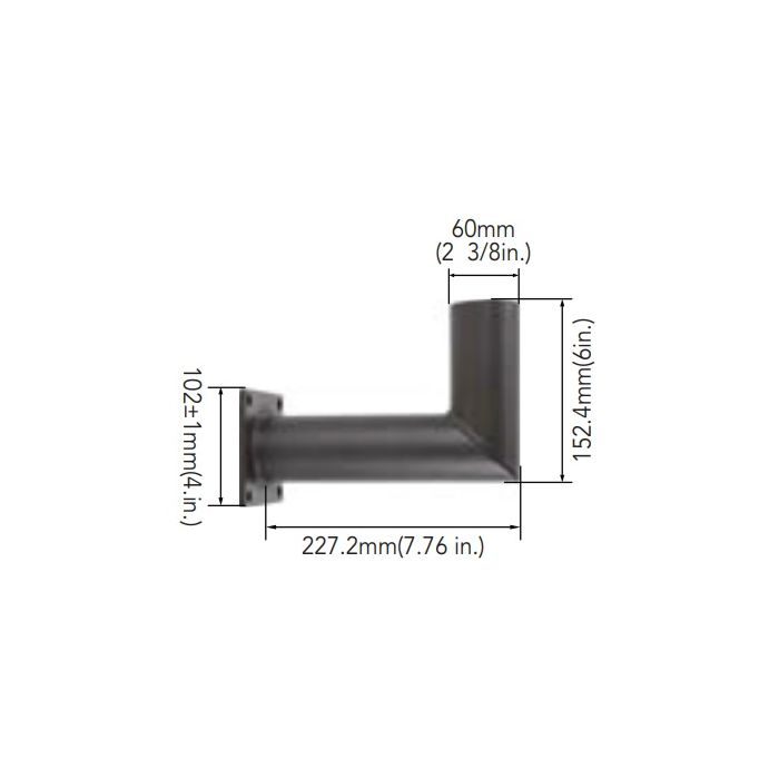 Arcadia Lighting WM-SP-D 90° Wall Mount Bracket with 2-3/8IN O.D. Tenon
