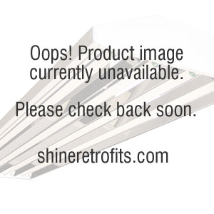 Image 2 US Energy Sciences FSB-033204-WA 4 Ft 3 Lamp T8 Strip Direct/Indirect Fixture with Curved Perforated Basket White Aluminum Reflector