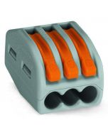WAGO 51015200 Lever-Nuts Classic 3 Conductor Grey with Orange Levers - 5 PCS per Clam Shell