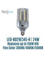 Light Efficient Design LED-8029E345-A 24 Watt Flex Color Bollard Retrofit Corn Lamp