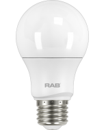 RAB Lighting A19-5-E26 6-Watt A19 Frosted Bulb Dimmable 40W Incandescent Equivalent