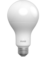 RAB Lighting A21-15-E26 15-Watt A21 Frosted Bulb Premium Dimmable 75W Incandescent Equivalent