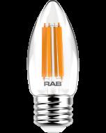RAB Lighting B11-3-E26-927-F 3-Watt B11 Premium Filament Decorative Lamp 40W Incandescent Equivalent