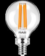 RAB Lighting G16.5-3-E26 3-Watt G16.5 Premium Filament Decorative Lamp 40W Incandescent Equivalent
