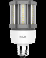 RAB Lighting HID-12-E26 12 Watt Ballast Bypass Post Top Lamp 100-277V - Replaces 50W MH