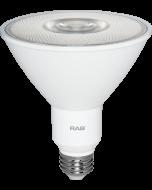RAB Lighting PAR38-12-9 Energy Star Rated 12 Watt LED PAR38 E26 Lamp 120V 90CRI Dimmable 90W Equivalent