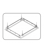 Product Image GE Lighting GESK11 2' x 4' Drywall Mount for ET-24 Series