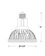 Product Dimensions CREE LRP38-10L-30K-12D-GU24 13.5 Watts 13.5W PAR38 GU24 Base LED 12 Degree Dimmable Lamp 3000K