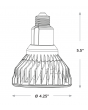 Dimensions CREE LBR30A92-50D 12 Watts 12W BR30 Edison Base LED 50 Degree Dimmable Lamp 2700K