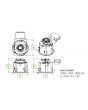 Dimensions Product Image GE Lighting RI8-40 54W 54 Watts 8 Inch Round RI Series Retrofit LED Downlight Powered by Infusion - Dimmable - Multivolt 120V-277V