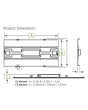 Dimensions GE Lighting ET-24-0-C3 54W 54 Watts 2' x 4' Recessed Troffer ET24 Series Powered by Intrinsx Lumination LED Luminaires 4000K