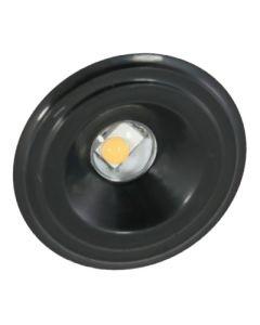 American Lighting 024-000 1.25 Watt Undercabinet LED Bullet Puck Accent Light Dimmable 3000K - Black