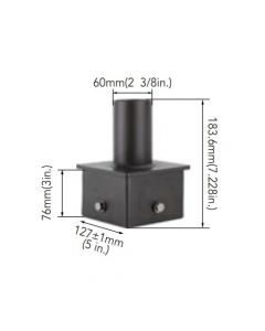 Arcadia Lighting 5SQ-SP-D 5IN Square Pole Mount with 2-3/8IN O.D. Tenon