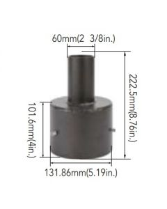 Arcadia Lighting 5SQR-SP-D 5IN Round Pole Mount with 2-3/8IN O.D. Tenon