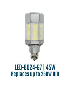 Light Efficient Design LED-8024E40-A 45 Watt Corn Cob Post Top Retrofit Lamp 4000K E26 Edison Base