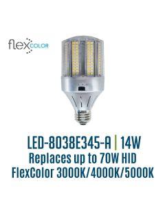 Light Efficient Design LED-8038E345-A 14 Watt Flex Color Bollard Retrofit Corn Lamp