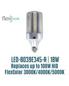 Light Efficient Design LED-8039E345-A 18 Watt Flex Color Bollard Retrofit Corn Lamp