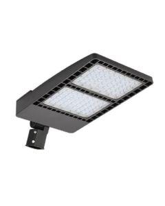 Aleddra ASB-SBL-3-100W-50K-PC DLC Listed 100-Watt LED Slim Shoebox Fixture Dimmable 110V-277V with NEMA Receptacle