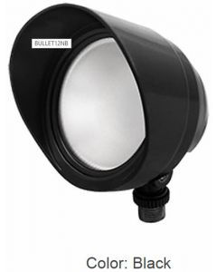 Black Housing RAB Lighting 12 Watts LED Bullet Floodlight Fixture 120V with Hood and Lens (Product Configurator)