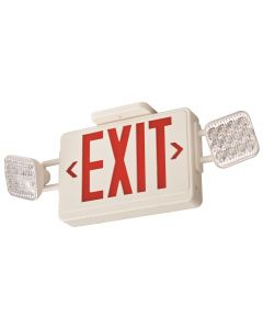 Lithonia Lighting ECR LED Series Thermoplastic LED Emergency Frog Eyes Exit Sign and Light Fixture with Red Letters