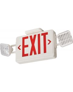 Lithonia Lighting ECG LED M6 LED Thermoplastic LED Emergency Frog Eyes Exit Sign and Light Fixture with Green Letters