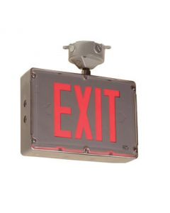 Main Image Mule Lighting SVX-HZ-1 Hazardous Location Exit Sign AC Only with Single Face - Red or Green LEDs