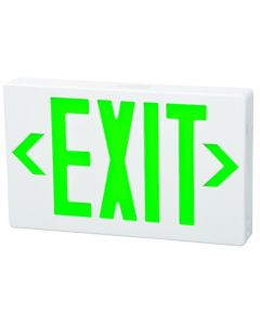 Fulham Lighting FHEX21WGEM Firehorse LED Emergency Exit Sign Thin Profile with Battery Backup Green Letters