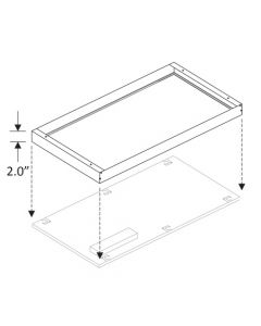 Howard Lighting LFP-SMK24 2x4 Ft Surface Mounting Kit for LFP 2X4 Series