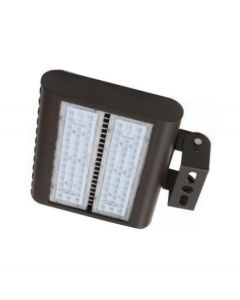 Howard Lighting XFL-5080-LED-MV-TR DLC Qualified 80 Watt LED Flood Light Fixture with Trunnion Mounting Dimmable 5000K